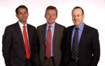 The Surgeons: Professor Stephen Langley, Mr Christopher Eden & Mr John Davies